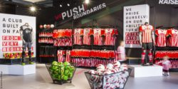 Image: Southampton FC Stadium Store - interior; copyright: Green Room Design