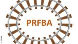 Photo: ribbon rails around the letters PRFBA; copyright: PRFBA