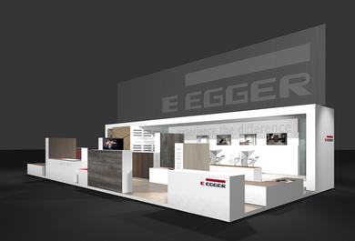 "EGGER is presenting at the EuroShop trade fair under the motto ""Experience the difference""."