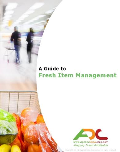 "© Applied Data Corporation; ""Guide to Fresh Item Management"""