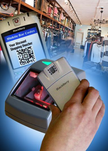 mobile phone PDS ticket voucher bar code reader