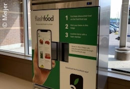 An automated kiosk in a grocery store; copyright: Meijer
