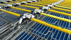 Photo: Rows of shopping carts; copyright: panthermedia.net / Harald Jeske