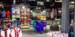 Image: Southampton FC Stadium Store – interior; copyright: Green Room Design