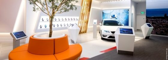 Photo: SEAT Store at Lakeside Shopping Centre; copyright: Green Room