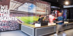 Image: Southampton FC Stadium Store - payment area; copyright: Green Room Design