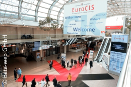 Entrance area EuroCIS Messe Düsseldorf; copyright: beta-web GmbH