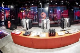 View into the new flagship store of the Rolling Stones; copyright: Katie Brook