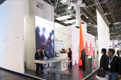 Source of Inspiration: ICT Trade Show Booth at the EuroShop 2014