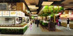 Image: Food court; Copyright: mfi AG