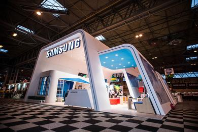 Samsung Design Expo, Samsung, stands, exposition,