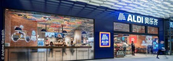 Front of an aldi store; copyright: Andrew Meredith