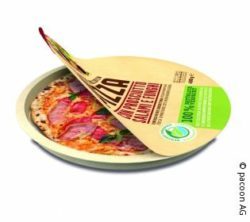 Image: Packaging of a pizza by pacoon; Copyright: pacoon AG
