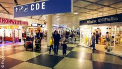 Image: Visitors at airport shopping; Copyright: Flughafen München GmbH
