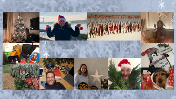 A collage of many pictures of people and Christmas decorations; copyright: EuroShop