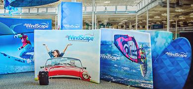 Skyline WindScape Exhibit System is the world's first air-powered exhibit system.