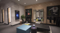Image: Displays in the Lounge; copyright: Nike