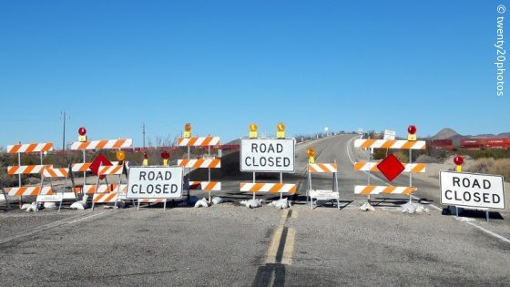Barrier on Route 66; copyright: twenty20photos
